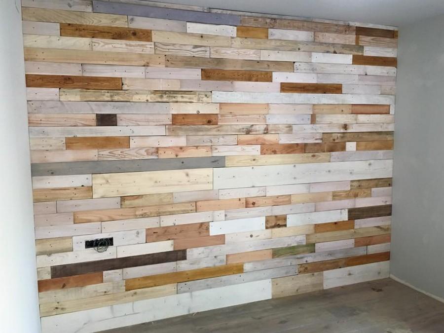 DIY Pallet Wood Wall Paneling