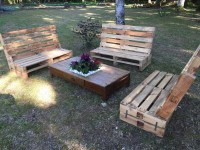 Outdoor Wooden Pallet Furniture | Pallet Ideas: Recycled ...