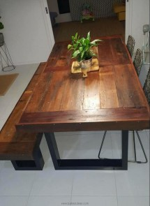 Reclaimed Wooden Pallet Dinning Table Ideas