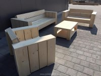 Wooden Pallet Patio Couch Set | Pallet Ideas: Recycled ...