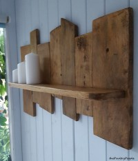 Upcycled Pallet Wood Shelf | Pallet Ideas: Recycled ...