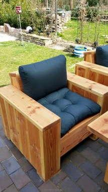 Pallet Wood Outdoor Lounge Furniture Ideas