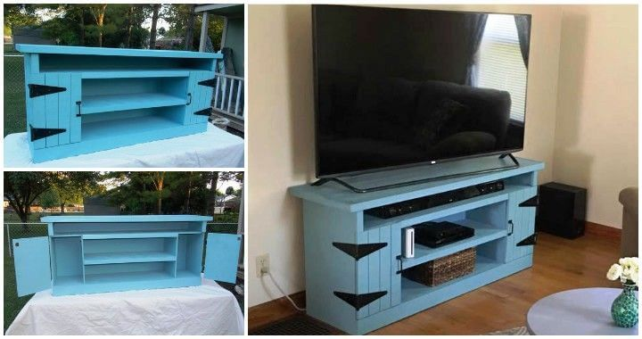 Wood Pallet Tv Stand Or Entertainment Center Pallets Pro