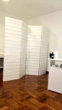 Pallet Room Divider, Shelf and Desk for Clinic - Pallets Pro