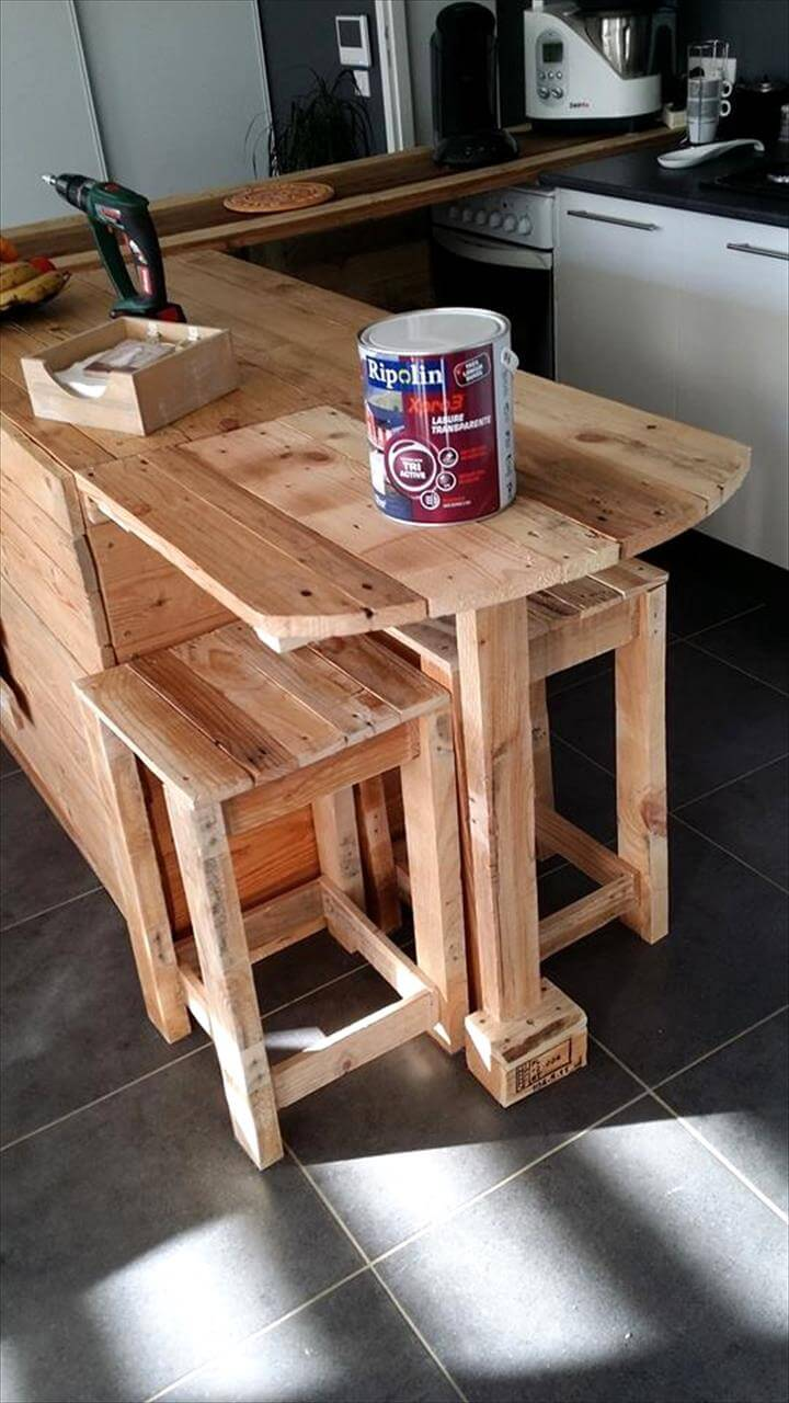 nice kitchen tables glass table sets pallet counter with breakfast & storage ...
