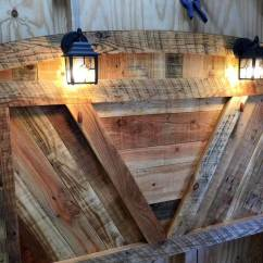 Pallet Wood Chair How To Make Easy Covers For Wedding Diy Bed Frame With Lighted Headboard And Night Stands - Pallets Pro