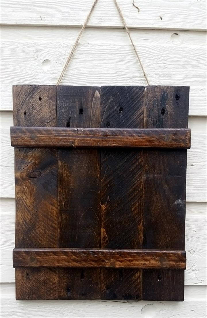 Herb Planters Made Out Wood Pallets