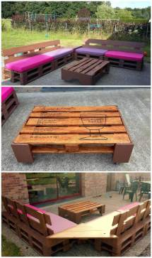 Simple And Stylish Pallet Outdoor Furniture Set - Pallets Pro