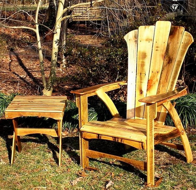 adirondac chair plans leather camp reclaimed pallet adirondack chairs | wood projects