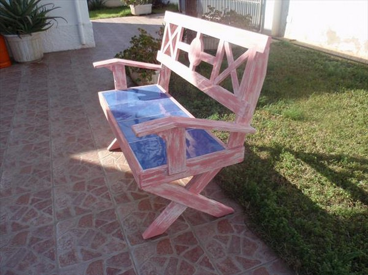 Wooden Pallet Sitting Bench Plans Pallet Wood Projects