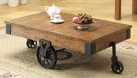 Pallet Coffee Table on Wheels | Pallet Wood Projects