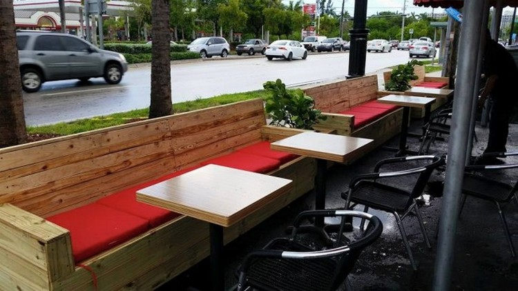 pallet furniture pallet made restaurant furniture