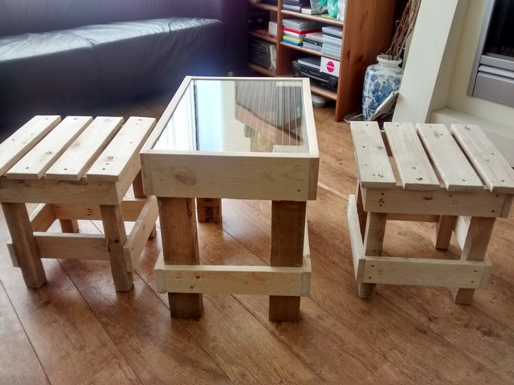 Wooden Pallet Stool Plans  Pallet Wood Projects