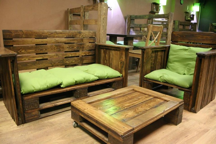 Pallet Living Room Furniture Plans  Pallet Wood Projects