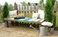 Wood Pallet Garden Bench Ideas