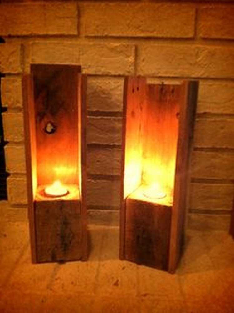 Pallet Wood Candle Holders  Pallet Wood Projects