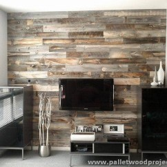 Kitchen Cabinet Makeover Kit Pub Style Set Accent Wall Made Out Of Pallets | Pallet Wood Projects