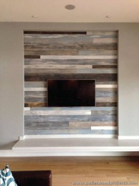 Accent Wall Made Out of Pallets | Pallet Wood Projects