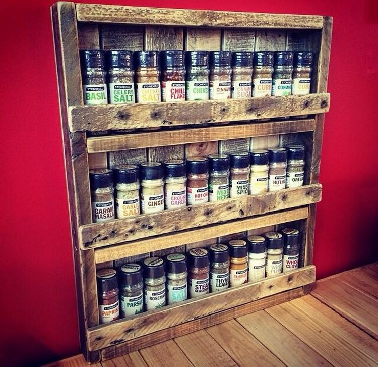 Pallet Spice Rack Ideas  Pallet Wood Projects