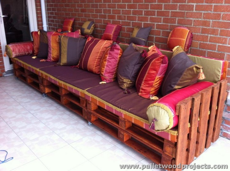 sofa framework tutorial leather ling recycled pallet ideas | wood projects