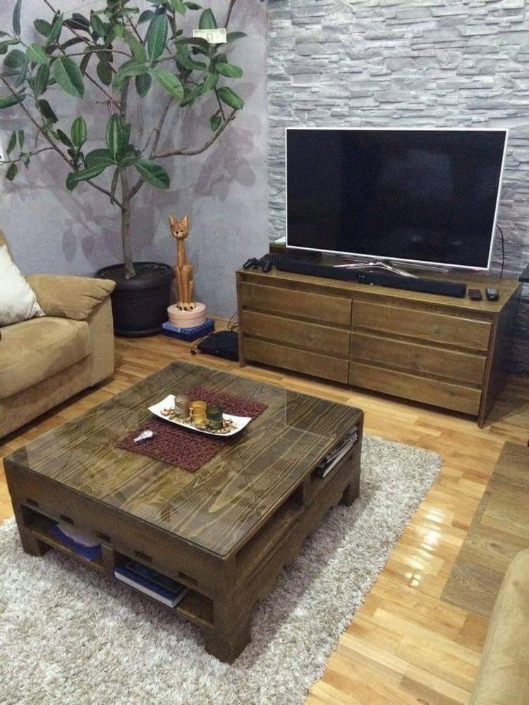 sofa table design plans mattresses for sleepers furniture ideas with shipping pallets   pallet wood projects