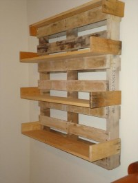 Its Easy To Create Wooden Pallet Shelves | Pallet Wood ...