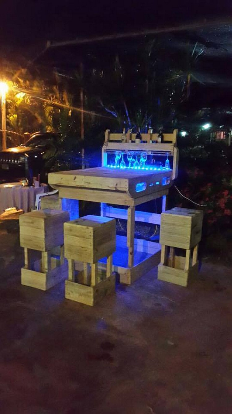 patio chairs for kids polywood rocking chair pallet outdoor wine bar with lights | wood projects