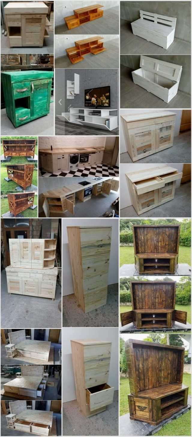 Unique and Pretty Wooden Pallet Projects