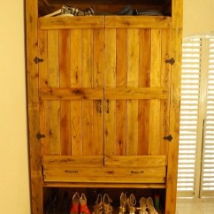 Wood Kids Table And Chairs Queen Anne Side Chair Recycled Pallets Made Wardrobe With Shoe Storage | Pallet Projects