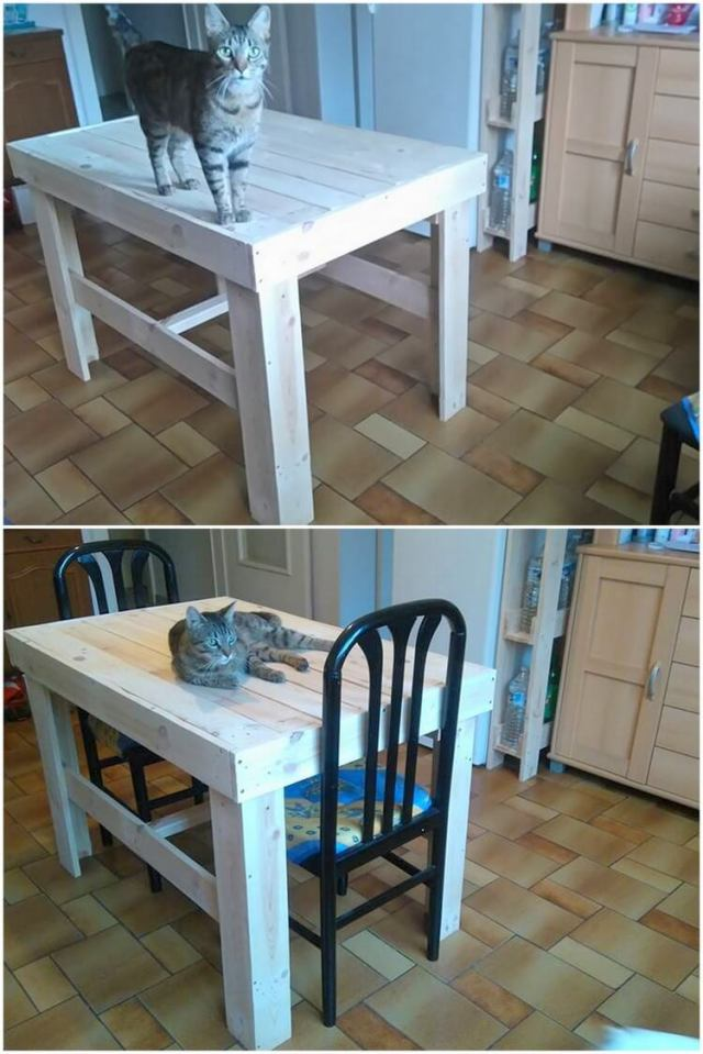 Pallet Dining Table and Chair