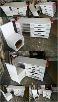 Recycled Wood Pallet Kiddies Art Desk and Chair | Pallet ...