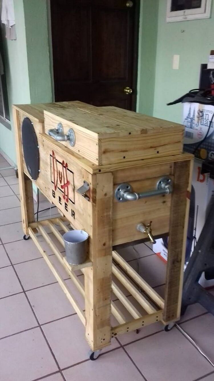 Repurposed Wooden Pallet Cooler  Pallet Wood Projects