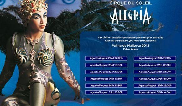 cirque du solei Palma Arena