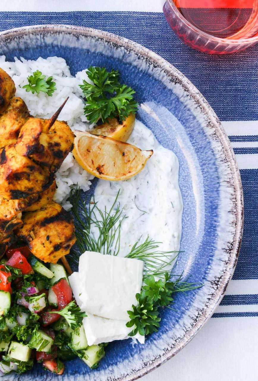 Spiced Chicken Kebabs