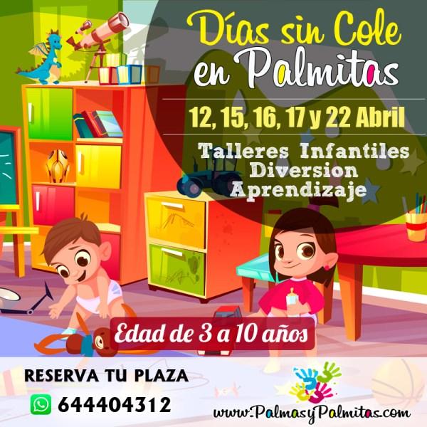 Dias sin cole en Palmitas.  Talleres infantiles