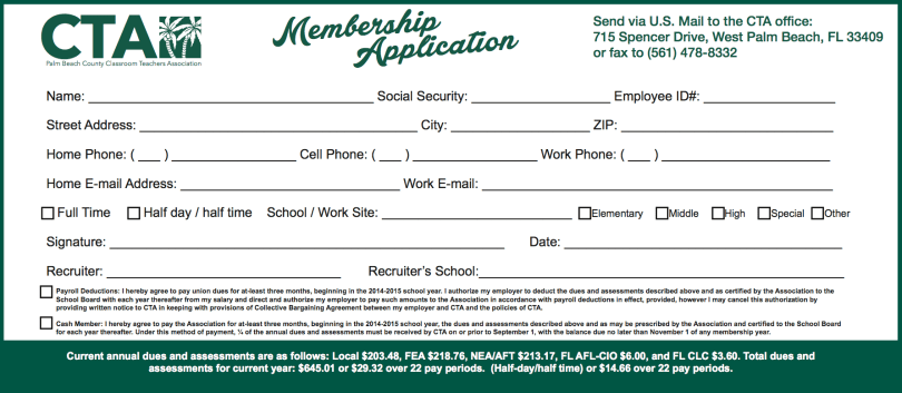 CTA Application Form