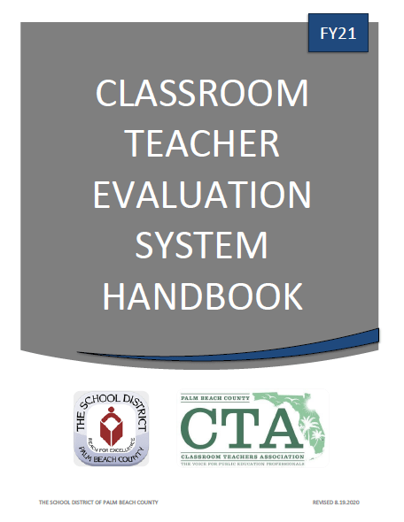 FY21 Classroom Teacher Evaluation System (CTES) Handbook (w/updates – 9-22-2020)