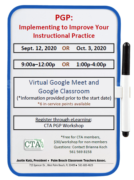 CTA PD – Fall 2020 – PGP Training