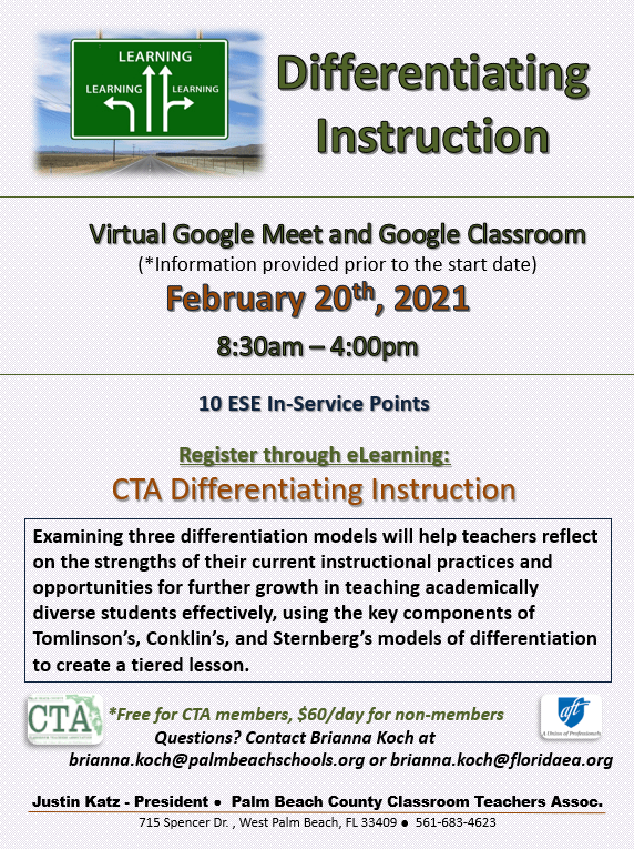 CTA PD – Differentiated Instruction