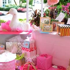 Wallpaper For Kitchen White Glass Backsplash Beth's Flamingo Inspired Baby Shower | Palm Beach Lately