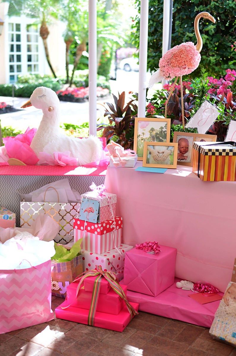 decor living room 2016 traditional formal furniture sets beth's flamingo inspired baby shower | palm beach lately