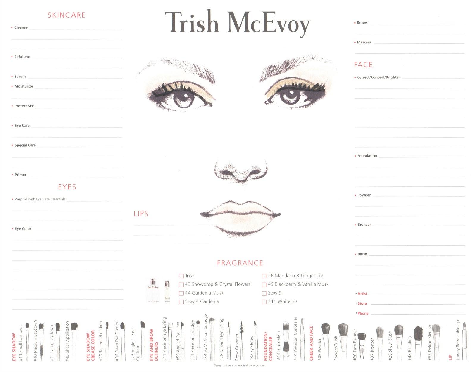 Makeup Consultation Card