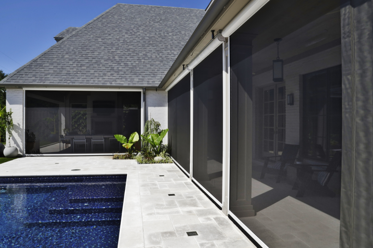 motorized screens retractable awnings