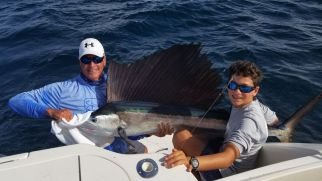 Sailfish -caught on the Ocean Breeze, Captain Charles Mount.