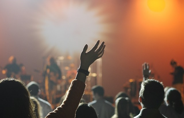 People in a live concert