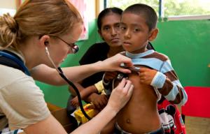 pediatrician checking kid