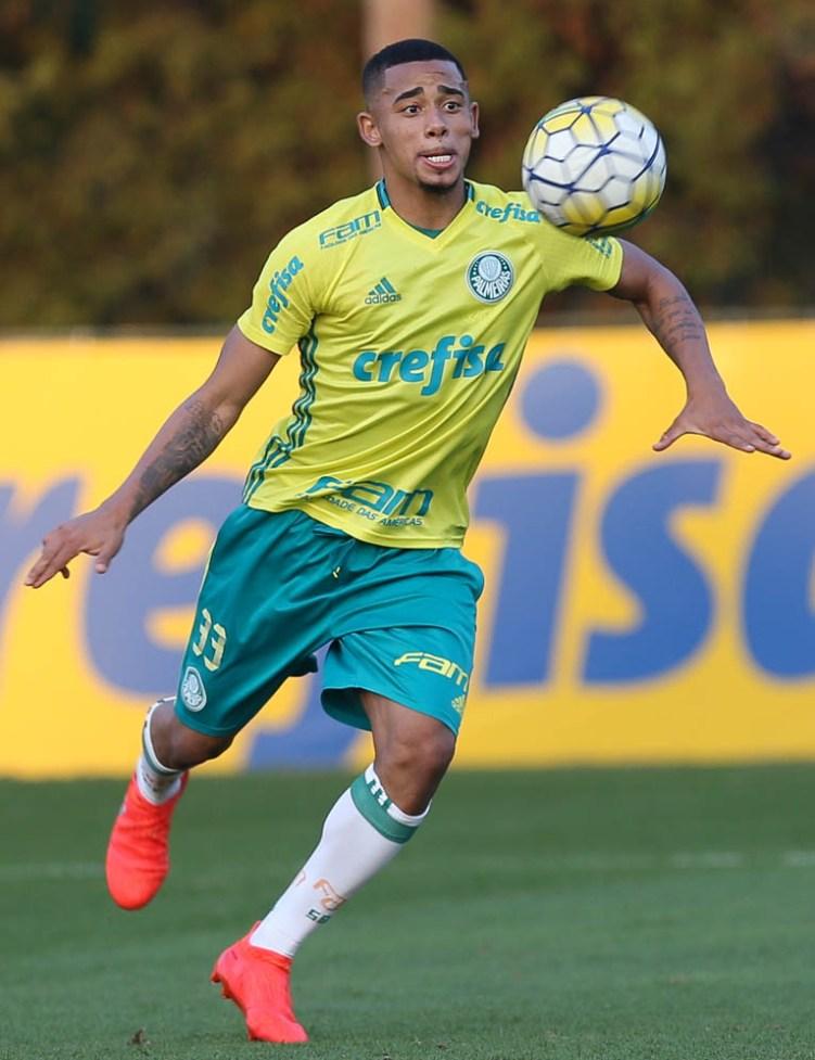 Cesar Greco/Ag.Palmeiras/Divulgação_Gabriel Jesus foi relacionado para o clássico contra o São Paulo