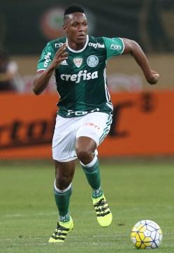 Cesar Greco/Ag.Palmeiras/Divulgação_Após cumprir suspensão diante do Grêmio, Mina voltou ao time titular nesta quarta (14)