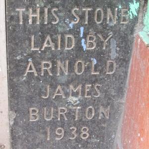 Burton's foundation stone. Image  (c) S Beard
