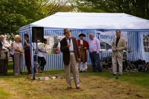 Ron Moody Opening the Southgate May Day Fayre in 2014, photo by kind permission of Christine Matthews ( Creative Commons LIcense)